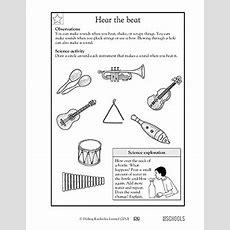 1st Grade, 2nd Grade, Kindergarten Science Worksheets Hear The Beat Greatschools