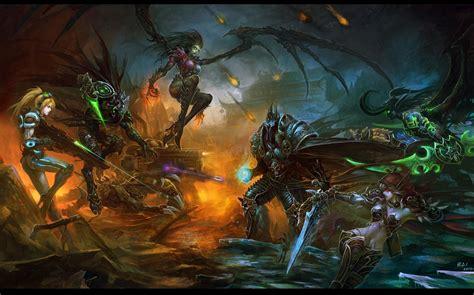 The Matrix Background Hd Stars World Of Warcraft Zerg Protoss Blizzard Entertainment Starcraft Ii Bai Terrain