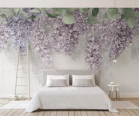customize wall papers home decor wisteria flower living