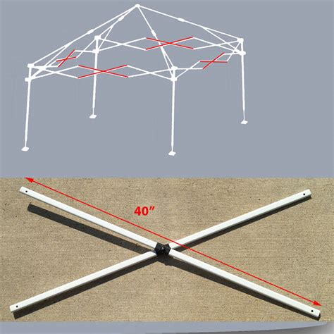envoy  instant canopy gazebo middle truss bars replacement parts ebay