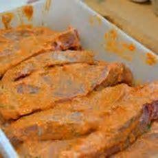 Schweinefilet Mit Senfpaprika Marinade Vom Grill Katha