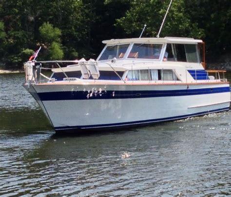 Elegantly Crafted Interior by Our Boat 1965 Chris Craft Constellation Sedan Grand Lake