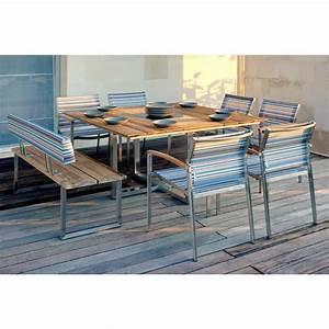 Tisch Und Bank : zebra gartenm bel set mit stuhl setax bank quadux und tisch quadux ~ Eleganceandgraceweddings.com Haus und Dekorationen