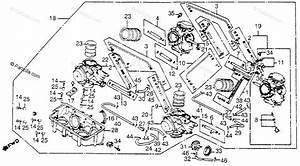 Honda Motorcycle 1984 Oem Parts Diagram For Carburetor