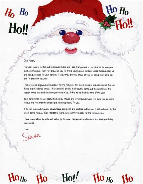 personalized letters  santa search results