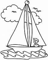 Boat Coloring Drawing Speed Sailboat Dragon Sailing Fishing Yacht Printable Ship Row Boy Ferry Boats Line Getcolorings Cargo Getdrawings Template sketch template