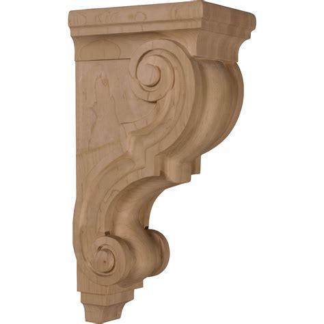 oak shelf brackets traditional oak 5 x 6 75 x 14 large traditional corbel corbels