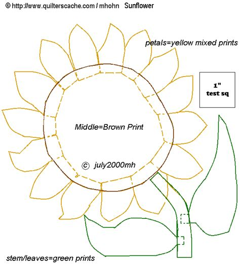 printable large flower leavestemplate   pattern