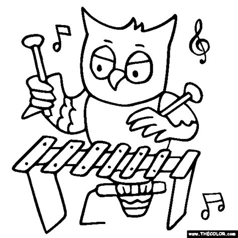 xylophone coloring page coloring pages