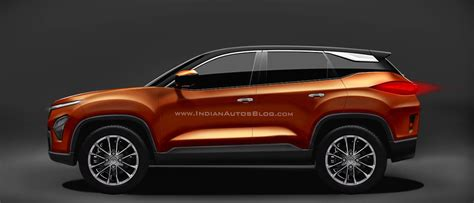 Tata Harrier Midsize Suv Rendered  Bookings Not