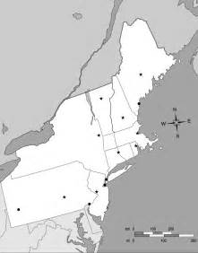 Northeast States and Capitals Map Quiz