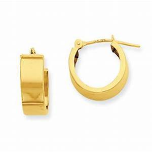 14k yellow Gold Tubular hoop Earrings, Latest and new ...
