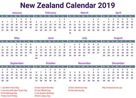 calendar nz printable calendar yearly