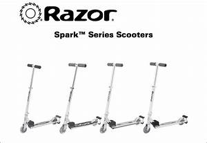 Razor Spark Ultra Kick Scooter Blue With Super Bright Led
