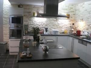 Tapisserie Pour Cuisine : credence cuisine imitation pierre mosaque pour sol de ~ Premium-room.com Idées de Décoration