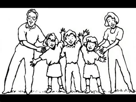 draw  happy family easy drawing lesson  kids