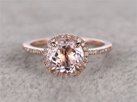 morganite engagement ring 14k gold engagement rings bbbgem