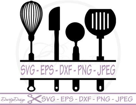 kitchen planner free split kitchen utensils svg split monogram svg dxf files eps