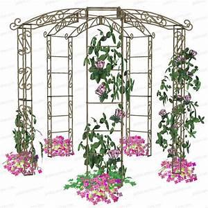 Arche Metal Pour Plante Grimpante : kiosque de jardin tonnelle 5 pieds arches kiosque et ~ Premium-room.com Idées de Décoration