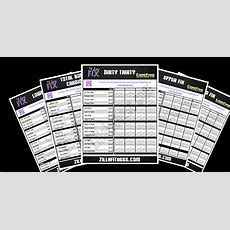 New And Improved 21 Day Fix Worksheets Zillafitnesscom