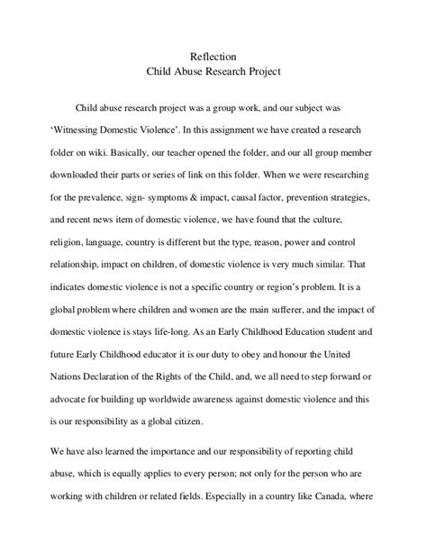research papers  domestic violence  children