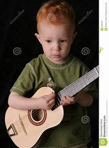 Guitar Toddler Close Stock Photo