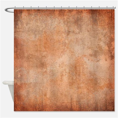 rust shower curtain rust color bathroom accessories decor cafepress