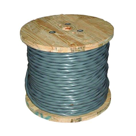 southwire 250 ft 6 3 gray stranded cu uf b w g wire