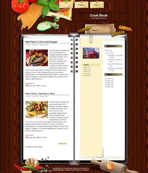cook with us free template food recipe blog website templates themes free
