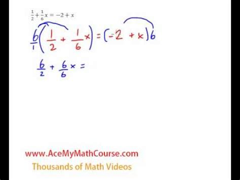 equations variables on both sides with fractions