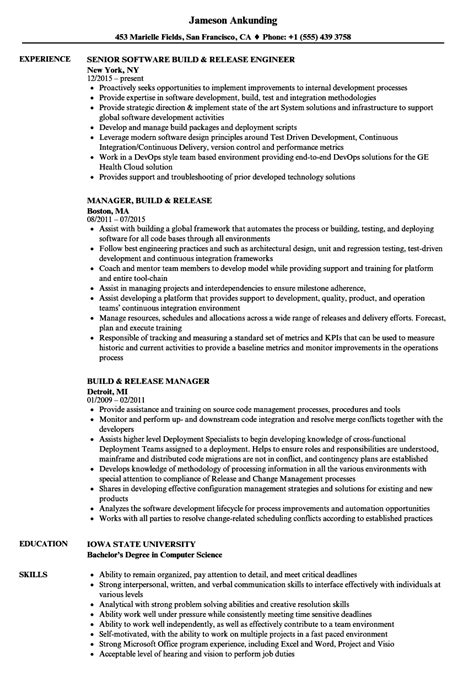 Build Engineer Resume by Network Engineer Resume Sle Flawless Software Developer
