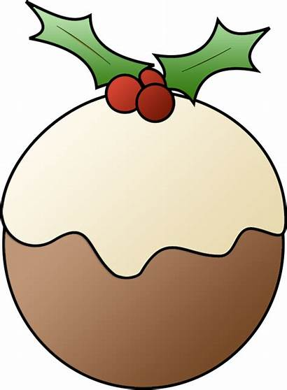 Christmas Clipart Clip Meal Xmas Pudding Candy