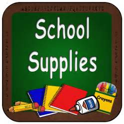 Grade School Supply List