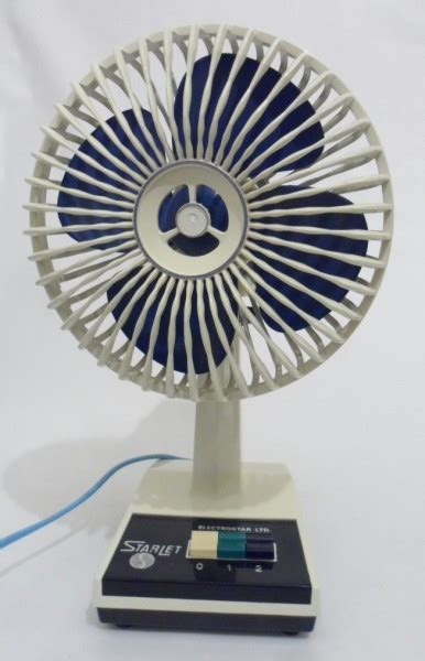Vintage Starlet Electric Oscillating Table Fan by