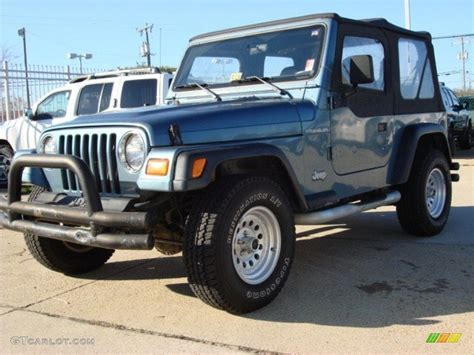 gunmetal blue jeep 1999 gunmetal pearlcoat jeep wrangler se 4x4 58852861