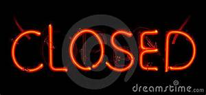 Neon Closed Sign Royalty Free Stock graphy Image