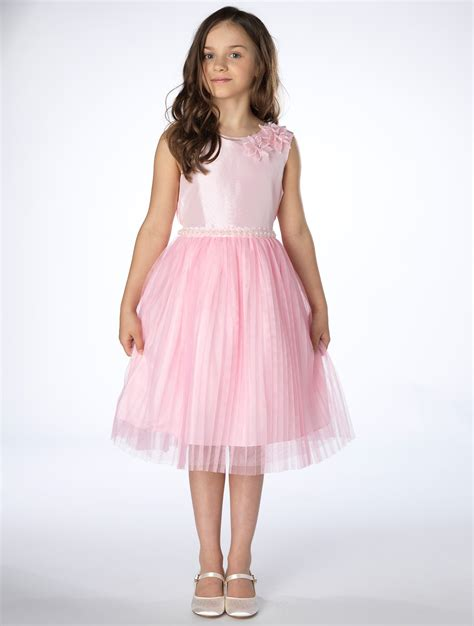 Girls Pink Party Dresses | Girls Lace Dresses | Girls Pearl Dresses | Girls Pink Dresses | | Roco