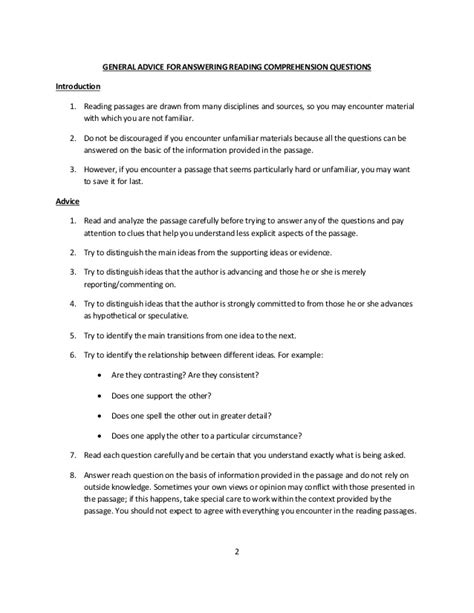 High School Reading Comprehension Worksheets Questions And Answers High Best Free Printable