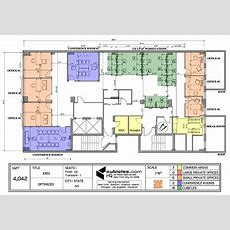 Office Layout Plan With 3 Common Areas #officelayout