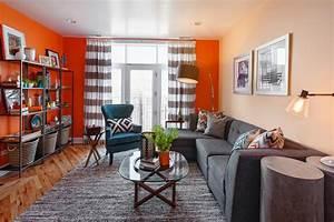 19 orange living room designs decorating ideas design With gray and orange living room