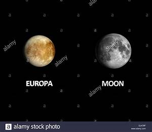 A rendered size comparison of the Jupiter Moon Europa and ...