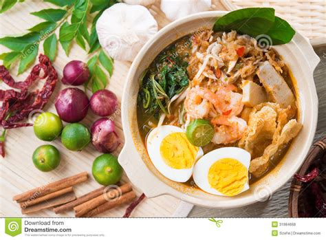 cuisine stock singapore prawn noodles royalty free stock photos image