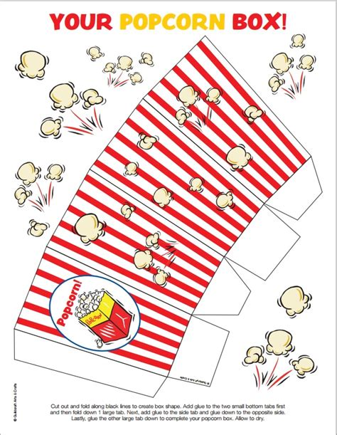 popcorn box template 12 free diy popcorn box printables for a better family