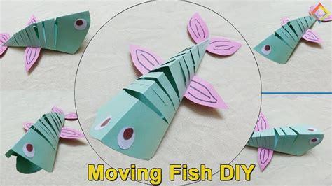How To A Make Moving Fish, Paper Moving Fish Diy, Diy