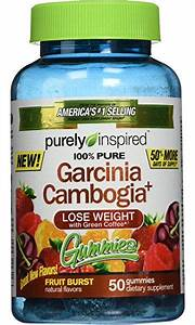 Purely Inspired Garcinia Cambogia  Gummies  Fruit Burst  50 Count