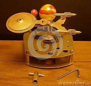 Orrery Steampunk Art Clock With Planets Of The Solar ...