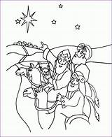 Wise Coloring Pages Magi Three Printable Nativity Craft Getcolorings Kings Visiting Popular sketch template