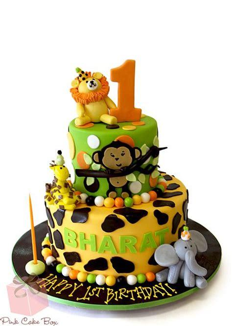st birthday jungle party cake celebration cakes