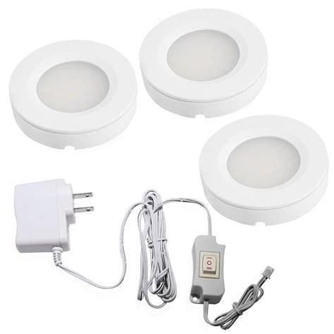 kitchen cabinet led lighting kits set of 3 led cabinet lighting kit 2watt warm white 9606