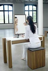 Coiffeuse En Bois Petite Fille : jolie coiffeuse avec miroir 40 id es pour choisir la meilleure ~ Teatrodelosmanantiales.com Idées de Décoration